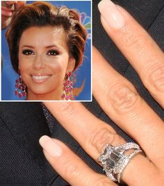 Dreamyourstyle Celebrity Engagement Rings Photos Eva Longoria Ring Wedding