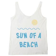 Sun of a beach womens tank @Rebekah Steen