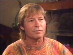 John Denver doing an interview at his Aspen home in 1994.