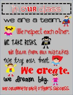 "Superhero Themed ""In Our Class"" Rules...FREEBIE!!!"