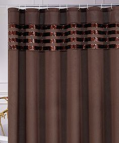 Love this Brown Sequin Moline Shower Curtain on #zulily! #zulilyfinds
