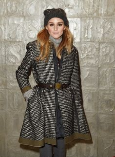 Olivia Palermo in a belted coat.