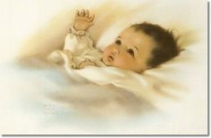Bessie Pease Gutmann - Baby with the Golden Glow of Sweet Dreams