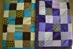 Bridesmaid Dress Baby Quilt -- use squares from the dress and make it into a patchwork quilt! Great Idea!! Found on Etsy -- https://www.etsy.com/shop/PerfectButton