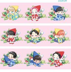 [로플 B7]홍시 on Kpop Exo, Exo Xiumin, Exo Ot12, Exo Cartoon, Cartoon Drawings, Chibi, Exo Stickers, Exo Anime, Exo Fan Art