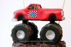 Monster Truck - How to make the truck (Part 2 of 3) - Jessica Harris Cake Design