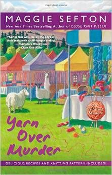 Latest and 12th release in Maggie Sefton's Knitting Mystery Series is Yarn Over Murder