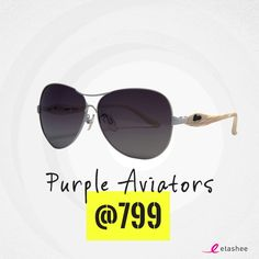 37c39eecfbc Even a hot summer day will be bearable when you put on these purple  coloured Aviator