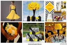 Black and Yellow wedding inspiration