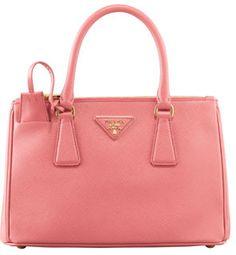 Prada Mini Saffiano Lux Tote Bag, Pink on shopstyle.com