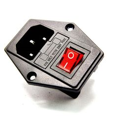 High quality 10A 250V Inlet Module Plug Fuse Switch Male Power Socket 3 Pin IEC320 C14