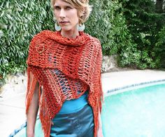 Tunisian Crochet Poncho Pattern | Basic Crochet Poncho Patterns