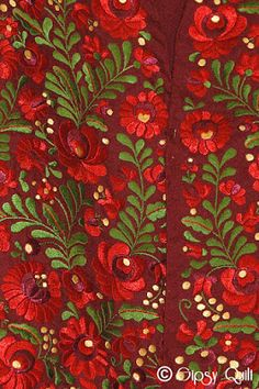 Hungarian embroidery. Via Gipsy Quilt blog site.