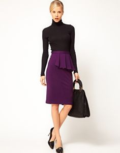 Tempting...  ASOS Side Peplum Pencil Skirt
