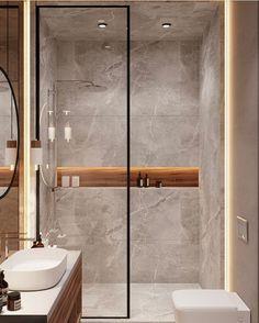 Modern Luxury Bathroom, Bathroom Design Luxury, Bathroom Layout, Modern Bathroom Design, Modern Shower, Modern Bathrooms, Small Luxury Bathrooms, Bathroom Ideas, Industrial Chic Bathrooms