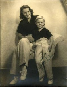 Barbara Stanwyck with her son Dion.