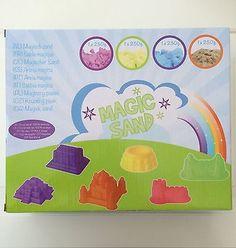 Magic Zauber Sand Indoor Spiel 6 Förmchen Mini Sandspielzeug Set Knete Kinder