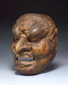 Mask from the Edo Period  Artist not identified  Japan  Wood with traces of pigment