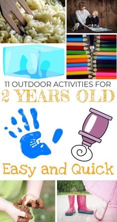 11 OUTDOOR GAMES FOR 2 YEAR OLDS. In this article, I described 11 outdoor activities for children age They are quick and easy and I hope they will save you when you won't have any idea what to do with your child on a sunny day. Toddler Fun, Toddler Preschool, Toddler Crafts, Toddler Activities, Activities For Kids, Preschool Crafts, Kids Crafts, Activities For 2 Year Olds, Outside Activities