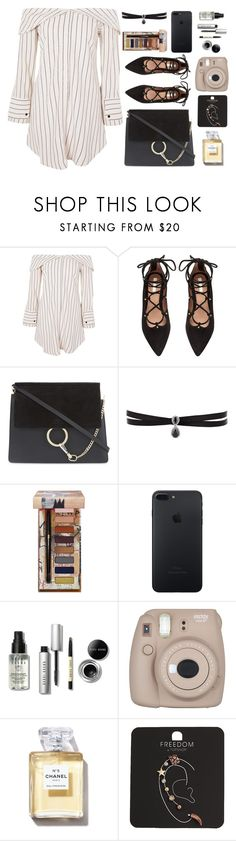 """""""The Sound /// The 1975"""" by lola-styleson ❤ liked on Polyvore featuring Topshop, H&M, Chloé, Fallon, Urban Decay, Bobbi Brown Cosmetics and Fujifilm"""