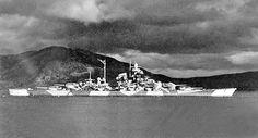 22 Sep 43: Six British midget submarines attack and damage the German battleship TIRPITZ in Alten Fjord, northern Norway. #WWII