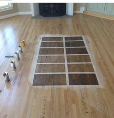 Plan on spending anywhere between $2.50 and $5.25 per square foot for sanding, staining and three coats of finish.