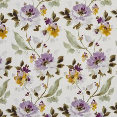 The K3906 upholstery fabric by KOVI Fabrics features Floral, Foliage pattern and Dark Green, Light Green, Lilac or Purple, White or Off-White as its colors. It is a Linen or Silk Looks, Prints type of upholstery fabric and it is made of 100% cotton, material. It is rated Exceeds 10,000 Double Rubs (Medium Duty) which makes this upholstery fabric ideal for residential, commercial and hospitality upholstery projects. This upholstery fabric is 54 inches wide and is sold by the yard in 0.25 yard…