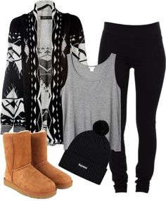 Not a huge fan of distressed jeans or the type of Ugg boots found on preteens, but this does look like a great fall outfit for hanging out or a picnic in the park. Description from pinterest.com. I searched for this on bing.com/images