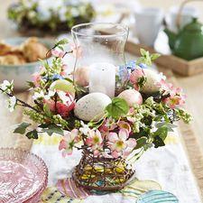 Bright Floral Egg Hurricane