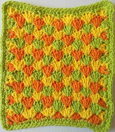 Summer Shells Crochet Dishcloth Pattern