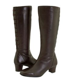 David Tate Women's Valentine Boot - Extra Wide/Super Wide Calf� (Brown)