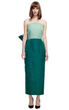 Rosie Assoulin   Ultrafine Silk Faille Strapless Bow Dress
