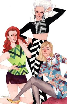 {Spidey's gals} Gwen Stacy, Felicia Hardy, and Mary Jane Watson