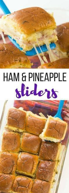 These Hawaiian Ham a These Hawaiian Ham and Pineapple Sliders are an easy appetizer lunch or dinner with just a few ingredients. Perfect for a potluck barbecue game day or a fun weeknight meal! Includes step by step recipe video | easy recipe | game day | superbowl | football | party food | party ideas Recipe : ift.tt/1hGiZgA And My Pinteresting Life | Recipes, Desserts, DIY, Healthy snacks, Cooking tips, Clean eating, ,home dec  ift.tt/2v8iUYW  These Hawaiian Ham a These Hawaiian Ham and Pineapple Sliders...