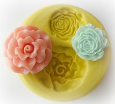 Fondant Flower Mold Cupcake Topper Fondant Mould Polymer Clay Resin Silicone Mold