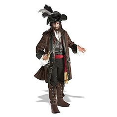 Traje de Halloween do pirata selvagem Brown Men Terylene – BRL R$ 285,06