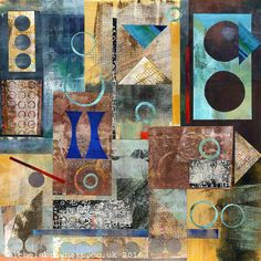 Michèle Brown Artist - The Old Cells Studio: Small red square collage