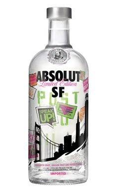 #bottle #alcohol Absolut San Fransico limited edition bottle.