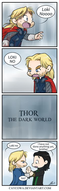 Thor expresses himself and Loki has an objection. <-- THEY'RE SO FRIGGIN CUTE!!
