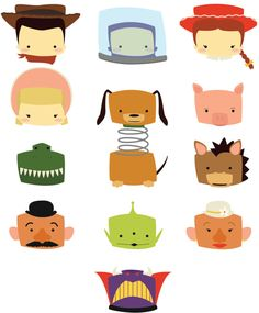 toy story icons by student Deanna Paige
