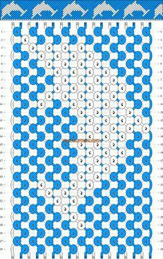 Normal Friendship Bracelet Pattern #10334 - BraceletBook.com