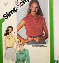 Vintage 1980s Sewing Pattern Simplicity 9765 Misses'