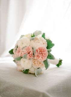 Pale Pink and White Bouquet | photography by http://www.rebeccayale.com
