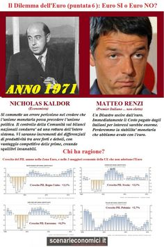 Il Dilemma dell'Euro (puntata 6): Kaldor versus Renzi