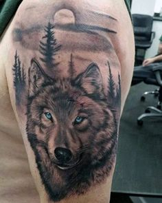 Venture through the woods and discover 70 wolf tattoo designs for men. Explore ideas like geometric outlines and classic lone wolves howling at the moon.Indian Wolf Tattoo For Men Wolf Face Tattoo, Wolf Tattoos Men, Maori Tattoos, Bild Tattoos, Animal Tattoos, Sleeve Tattoos, Polynesian Tattoos, Foot Tattoos, Cross Tattoos