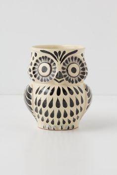 BLACK Folk Owl Mug from Anthropologie.... $14...