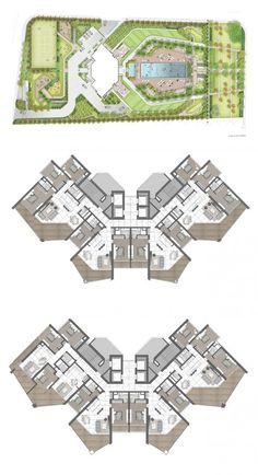 Hotel Design Architecture, Hospital Architecture, Architecture Concept Diagram, Futuristic Architecture, Architecture Plan, Residential Architecture, Residential Building Plan, Building Design Plan, School Building Design