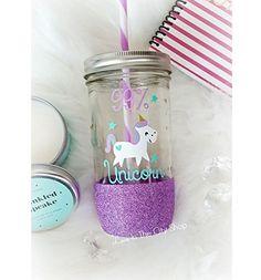 Unicorn Tumbler, Unicorn Gift, Unicorn Love, Unicorn Quote, I Love Unicorns, Custom Glitter Mason Jar, Glitter Unicorn, Custom Drinkware