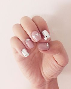 #manimonday love!  We're slightly obsessed with our current metallic and nude manicure. What's your #notd?