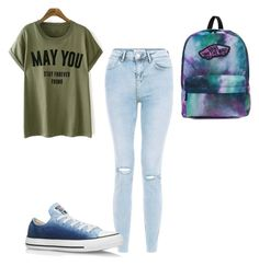 """""""Untitled #474"""" by aminamuratovic3 ❤ liked on Polyvore featuring Converse and Vans"""